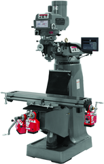 JTM-4VS Mill With 3-Axis Newall DP700 DRO (Knee) With X, Y and Z-Axis Powerfeeds