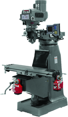 JTM-4VS Mill With 3-Axis ACU-RITE VUE DRO (Knee) With X and Y-Axis Powerfeeds
