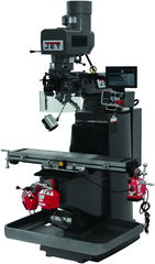 JTM-949EVS Mill With 3-Axis Newall DP700 DRO (Knee) With X and Y-Axis Powerfeeds and Air Powered Draw Bar