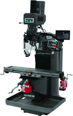 JTM-949EVS Mill With 3-Axis Newall DP700 DRO (Quill) With X and Y-Axis Powerfeeds and Air Powered Draw Bar