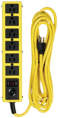 6 Outlet - Black/Yellow - Surge Protector/Circuit Breaker