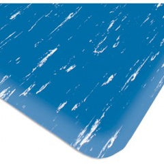 "4' x 60' x 1/2"" Thick Marble Pattern Mat - Blue"
