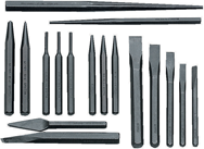 Snap-On/Williams 17 Piece Punch & Chisel Set -- #PC17; 1/8 to 1/2 Punches; 5/16 to 3/8 Chisels