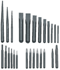 27 Piece Punch & Chisel Set -- #PC27; 3/32 to 1/2 Punches; 1/4 to 1-1/8 Chisels