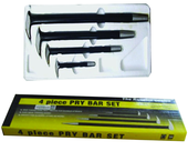 "4 Piece - 6; 12; 16 & 20"" - Solid Steel - Pry Bar Set"