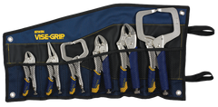Fast Release Curved Jaw Locking Pliers Set -- 6 Pieces -- Includes: Curved Jaw; Long Nose; C-Clamps