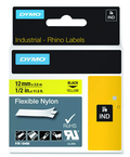 Rhino Label Roll -- 1/2'' x 11-1/2' Yellow Flexible Nylon