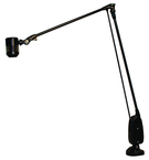 "High Power LED Spot Light  Dimmable  38"" Floating Arm  Sturdy Clamp Base"