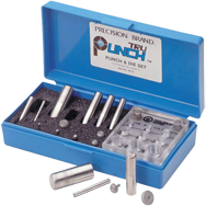Tru-Punch Punch & Die Set - #40110; 3/4'' Maximum OD; .010'' Maximum Material Thickness