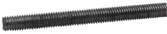 Threaded Rod - 1-1/4-12; 3 Feet Long; Steel-Oil Plain