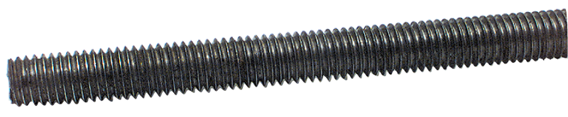 Threaded Rod - 1-3/8-6; 3 Feet Long; Steel-Oil Plain