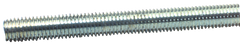 Threaded Rod - 1-8; 3 Feet Long; Zinc Plated