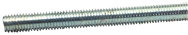 Threaded Rod - 1-1/8-12; 3 Feet Long; Zinc Plated