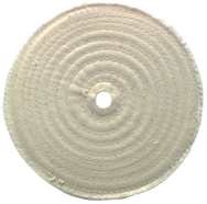 6 x 1/2 - 1'' (80 Ply) - Cotton Sewed Type Buffing Wheel
