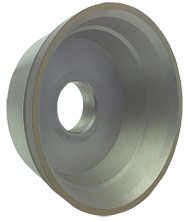 3-3/4 x 1-1/2 x 1-1/4'' - 1/8'' Abrasive Depth - 120 Grit - CBN Flaring Cup Wheel - Type 11V9