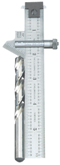 "#22C - 6"" Length; 59° Bevel Head (Graduation in 32nds) - Drill Point Gage"
