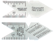 #C391 - USA Standard 60° - 14ths; 20ths; 24ths; 32nds Graduation - Center Gage with Double Depths of American National