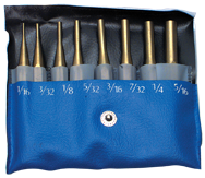 PEC Tools 8 Piece Drive Pin Punch Set -- #6300-008; 1/16 to 5/16'' Diameter