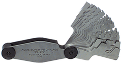 #615-6327 - 16 Leaves - Metric Pitch - Acme Screw Thread Gage