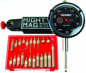 "Kit Contains: 1"" Procheck Indicator; Mighty Mag Base; And 22 Piece Contact Point Kit - Economy Indicator/Magnetic Base Set"