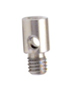 M4 x .7 Male Thread - 10mm Length - Stainless Steel Adaptor Tip