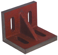 "7 x 5-1/2 x 4-1/2"" - Machined Webbed (Closed) End Slotted Angle Plate"