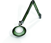 "Green-Lite® 5"" Racing Green Round LED Magnifier; 43"" Reach; Table Edge Clamp"