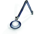 "Green-Lite® 5"" Spectra Blue Round LED Magnifier; 43"" Reach; Table Edge Clamp"