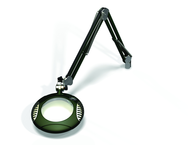 "Green-Lite® 6"" Racing Green Round LED Magnifier; 43"" Reach; Table Edge Clamp"