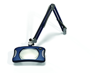 "Green-Lite® 7"" x 5-1/4""Spectra Blue Rectangular LED Magnifier; 43"" Reach; Table Edge Clamp"