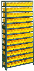 36 x 12 x 48'' (96 Bins Included) - Small Parts Bin Storage Shelving Unit