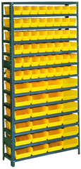 36 x 12 x 48'' (72 Bins Included) - Small Parts Bin Storage Shelving Unit
