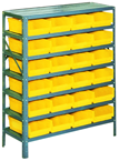 36 x 12 x 48'' (24 Bins Included) - Small Parts Bin Storage Shelving Unit