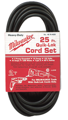 #48-76-4025 - Fits: Most Milwaukee 3-Wire Quik-Lok Cord Sets @ 25' - Replacement Cord