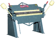 Box & Pan Brake - #U9616 - 97'' Working Length - 16 Gauge Capacity (Mild Steel)