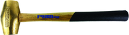"PRM Pro 1.5 lb. Brass Hammer with 12.5"" Wood Handle"