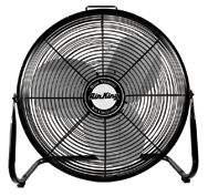 "18"" Floor Fan Roll-About Stand; 3-speed; 1/6 HP; 120V"