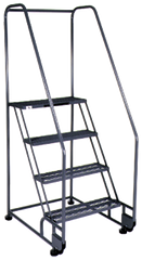 Model 4TR26; 4 Steps; 28 x 37'' Base Size - Tilt-N-Roll Ladder