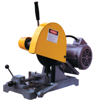 "Abrasive Cut-Off Saw-Floor Chain Vise - #K10SF-3; Takes 10"" x 5/8 Hole Wheel (Not Included); 3HP; 3PH Motor"