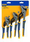 "Irwin 3 PC. Groove Joint set -- Includes 6"" ; 8"" & 10"" Tongue and Groove Pliers -- ProTouch Grips"