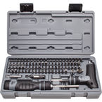 Proto® 91 Piece Multibit Set with Ratcheting Screwdriver and T-Handle
