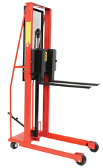 Hydraulic Straddle Fork Model Stacker - #ESPL-76-30S 76'' Lift Height
