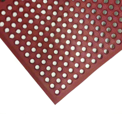 "3' x 5' x 1/2"" Thick Drainage Mat - Red"