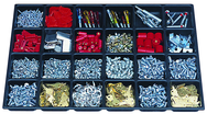 "One-Piece ABS Drawer Divider Insert - 24 Compartments - For Use With Any 27"" Roller Cabinet w/2"" Drawers"
