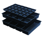 "One-Piece ABS Drawer Divider Insert - 4 Compartments - For Use With Any 29"" Roller Cabinet w/4"" Drawers"