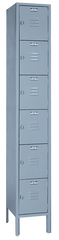 12 x 18 x 72'' (6 Openings) - 1 Wide 6 Tier Locker