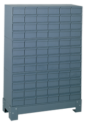 48-1/8 x 12-1/4 x 34-1/8'' (72 Compartments) - Steel Modular Parts Cabinet