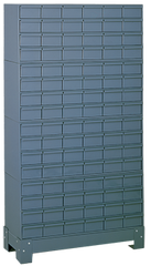 62-1/2 x 12-1/4 x 34-1/8'' (96 Compartments) - Steel Modular Parts Cabinet