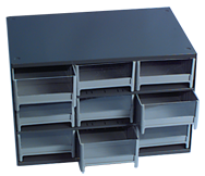 11 x 11 x 17'' (9 Compartments) - Steel Modular Parts Cabinet