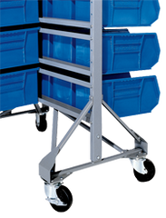 Mobility Kit for Bin Racks and Carts